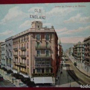 Postal Calle Pelayo y Balmes - Old England
