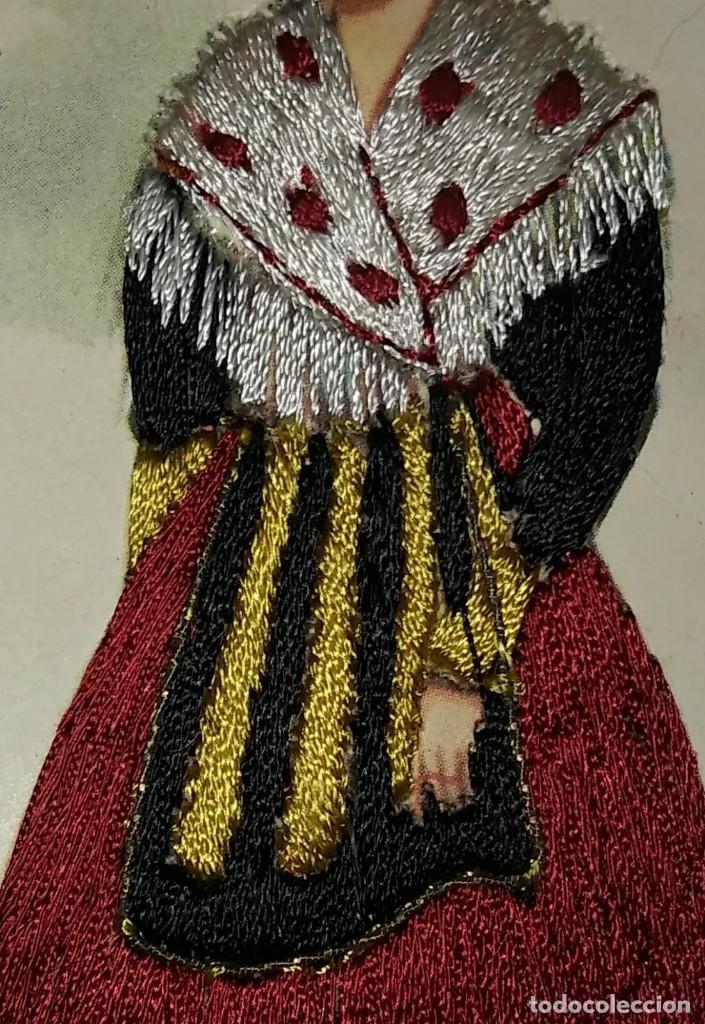Postales: BARCELONA Postal bordada con hilo traje típico BARCELONA CATALUNYA CATALUÑA - Foto 3 - 118034187