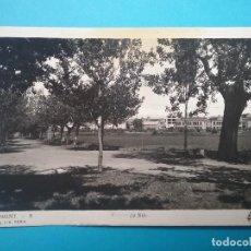 Postales: AGRAMUNT POSTAL FOTOGRÁFICA PASEO DE SIÓ AÑOS '50. Lote 118177563