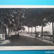 Postales: MALGRAT POSTAL FOTOGRÁFICA PASEO DE LA ESTACIÓN AÑOS '50. Lote 118177831