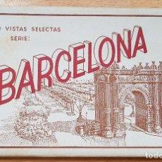 Postales: == S04 - LIBRO CON 10 VISTAS DE BARCELONA. Lote 118713439
