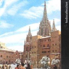 Postales: CATEDRAL BASÍLICA DE LA SANTA CRUZ Y SANTA EULALIA. BARCELONA. 1962.. Lote 119019019