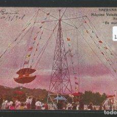 Postales: BARCELONA - AMERICAN PARK - MÁQUINA VOLADOR ELÉCTRICA - ATRACCIONES - P25906. Lote 119019055