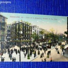 Postales: ANTIGUA POSTAL DE BARCELONA. LLANO DE LA BOQUERÍA Y RAMBLA DE SAN JOSÉ. J. VENINI.ESPERANTO. . Lote 119099295