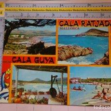 Postales: POSTAL DE MALLORCA. AÑO 1968. CALA GUYA Y RATJADA. 1812. Lote 119489375