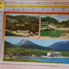 Postales: POSTAL DE MALLORCA. AÑO 1992. CALA RATJADA, HOTEL AGUAIT. 1813. Lote 119489403
