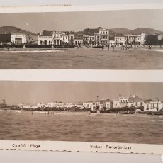 Postales: POSTAL ANTIGUA 1950- CALAFELL-PLAYA-VISTA PANORÁMICA.. Lote 119490767