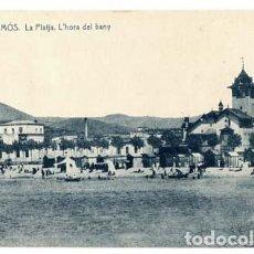 Postales: GIRONA PALAMÓS LA PLATJA L'HORA DEL BANY FOTOTIPIA THOMAS. SIN CIRCULAR. Lote 119766495