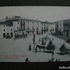 Postales: CASSA DE LA SELVA-POSTAL ANTIGUA- ATV 1680-PLASSA DE LA COMA- MERCADO -VER FOTOS-(52.834). Lote 120247067