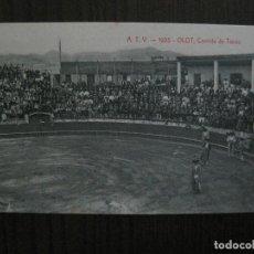 Postales: OLOT -POSTAL ANTIGUA -CORRIDA DE TOROS - PLAZA- ATV 1925 -VER FOTOS-(52.840). Lote 120250623