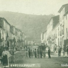 Postales: GIRONA CASTELLFULLIT. PASEO CALLE MAYOR. CIRCULADA EN 1910. MUY RARA.. Lote 120461507