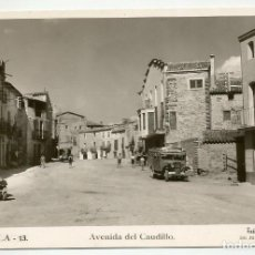 Postales: POSTAL DE LIÑOLA LINYOLA LLEIDA 13 AVENIDA DEL CAUDILLO FOTO CALAFELL ED JUAN CAMARASA. Lote 120562543