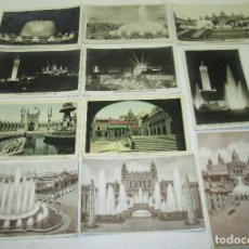 Postales: LOTE 11 POSTALES EXPOSICION INTERNACIONAL BARCELONA 1929, VISTA TRANSPARENTE, HILATURAS,..... Lote 120710487