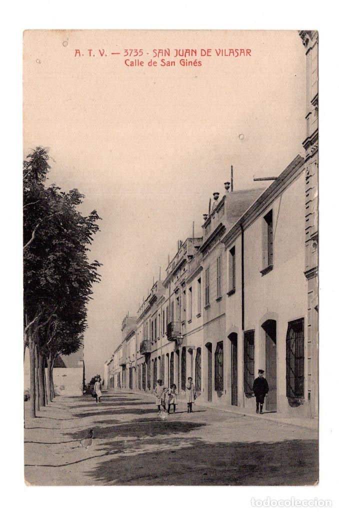BARCELONA. ATV 3735 SAN JUAN DE VILASAR. CALLE DE SAN GINÉS (Postales - España - Cataluña Antigua (hasta 1939))