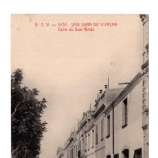 Postales: BARCELONA. ATV 3735 SAN JUAN DE VILASAR. CALLE DE SAN GINÉS. Lote 121004207