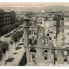 Postais: BARCELONA SUCESOS 1909 REAL COLEGIO DE SAN ANTON VISTA LATERAL ATV ANGEL TOLDRA VIAZO. Lote 121131611