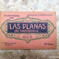 Postales: LAS PLANAS DE VALLVIDRERA BLOK 12 POSTALES SERIE 31 BARCELONA. Lote 121451151