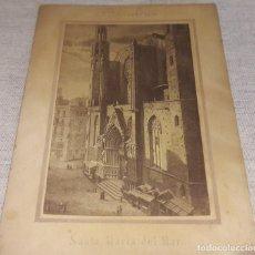 Postales: ANTIGUA FOTO POSTAL / SANTA MARÍA DEL MAR - BARCELONA / PRINCIPIOS S. XX. LEER. Lote 121453543