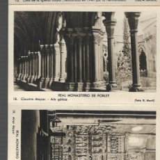 Postales: TACO 8 POSTALES * MONASTERI STA. MARIA DE POBLET * SERIE C . Lote 121708159