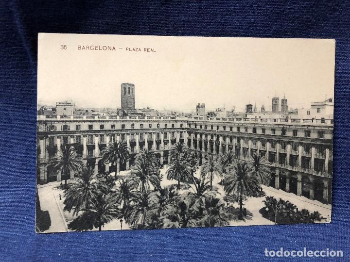 POSTAL ANTIGUA 35 BARCELONA PLAZA REAL, ESCRITA NO CIRCULADA. (Postales - España - Cataluña Antigua (hasta 1939))