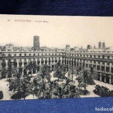 Postales: POSTAL ANTIGUA 35 BARCELONA PLAZA REAL, ESCRITA NO CIRCULADA.. Lote 121710067