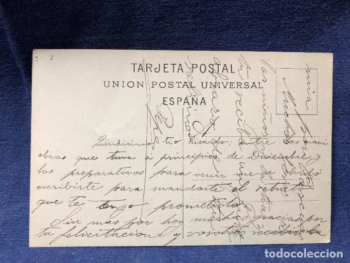 Postales: Postal antigua 35 Barcelona Plaza Real, escrita no circulada. - Foto 2 - 121710067