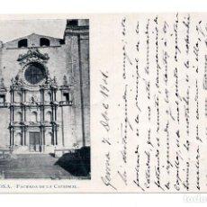 Postales: GERONA.- FACHADA DE LA CATEDRAL. REVERSO SIN DIVIDIR. Lote 122057887