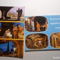 Postales: LOTE POSTALES TARRAGONA -PESEBRE SANTUARIO DE LORETO. Lote 122120327