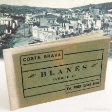 Postales: BLOC 12 POSTALES BLANES COSTA BRAVA. SERIE A. AÑOS 40. Lote 122343071