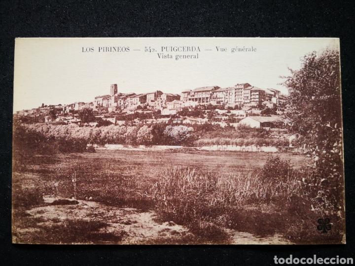 LOS PIRINEOS GERONA 542 PUIGCERDA VUE GENERALE VISTA GENERAL NO INSCRITA NO CIRCULADA (Postales - España - Cataluña Antigua (hasta 1939))