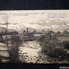Postales: 590 LOS PIRINEOS GRAN PAISAJE NEVADO Y FÁBRICAS DE HILADOS Y TEJIDOS DE D MIGUEL SALBADOR. Lote 122493424