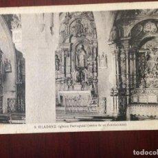 Postales: VILADRAU - 9 - IGLESIA PARROQUIAL (ANTES DE SU DESTRUCCIÓN) - L. ROISIN FOTO - CIRCULADA 1940. Lote 123064615