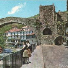Postales: CAMPRODON GERONA PUENTE ROMANO Y CALLE SAN ROQUE .. Lote 124204307