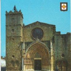 Postales: CASTELLO DE AMPURIAS GERONA IGLESIA DE ESTILO GOTICO Y ROMANICO SIGLOS XIII Y XIV. Lote 124204535