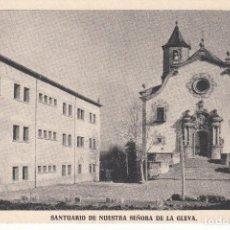 Postales: 2 POSTALES: BARCELONA. SANTUARIO NUESTRA SEÑORA DE LA GLEVA Y VIRGEN / SIN ESCRIBIR. Lote 124262559