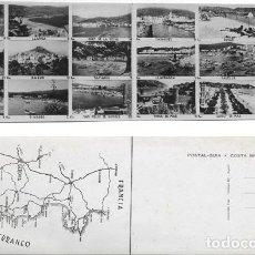 Postales: POSTAL GUIA COSTA BRAVA, POSTAL DOBLE, COMERCIAL PRAT, CON 18 FOTOS DIFERENTES LUGARES. Lote 124404159