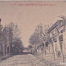 Postales: ATV 1222. CERDANYOLA. SARDAÑOLA, CALLE DE S. IGNACIO. CIRCULADA. Lote 124613415