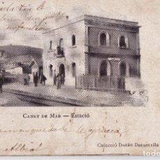 Postales: MUY ANTIGUA POSTAL. CANET DE MAR. ESTACIÓ. SIN DIVIDIR. CIRCULADA.. Lote 124616199
