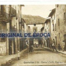 Postales: (PS-56977)POSTAL FOTOGRAFICA DE CENTELLAS-PORTAL CALLE NUEVA.ARCHIVO BARONES DE OLLER. Lote 124634783