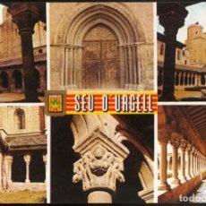 Postales: 1 - SEU D'URGELL (LLEIDA).- DIFERENTS ASPECTES DE LA CATEDRAL Y PORTAL DE SANT DOMÈNEC. Lote 125140075