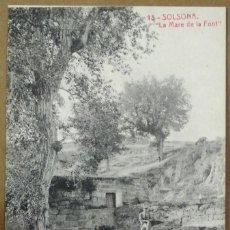 Postales: 18 - SOLSONA , LA MARE DE LA FONT - 8177 - FOTOTIPIA THOMAS - SIN CIRCULAR. Lote 125172427
