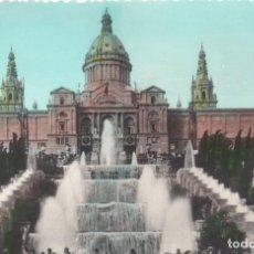 Postales: BARCELONA FACHADA DEL PALACIO NACIONAL . L.ROISIN. Lote 125737815