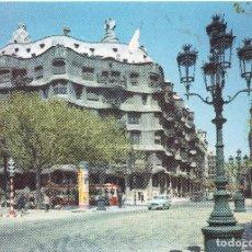 Postales: BARCELONA PASEO DE GRACIA LA PEDRERA. Lote 125739019