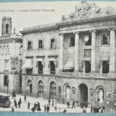 Postales: TARJETA POSTAL ANTIGUA 33 BARCELONA - CASAS CONSISTORIALES , MISSÉ HS BARNA. Lote 125979011