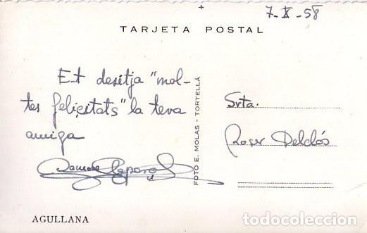 Postales: AGULLANA *** PROVINCIA DE GIRONA *** POSTAL CIRCULADA AÑO 1958 - Foto 2 - 126191759