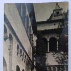 Postales: POSTAL SANT CUGAT DEL VALLES CLAUSTROS DEL MONASTERIO CIRCULADA 1961 SOBERANAS. Lote 126266919