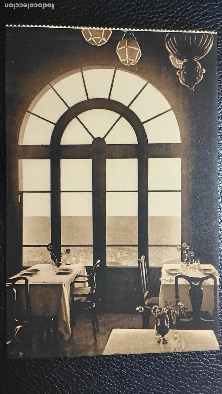 ANTIGUA POSTAL BARCELONA. TIBIDABO. HOTEL FLORIDA. VISTA DE LA CIUDAD DESDE EL COMEDOR. (Postales - España - Cataluña Antigua (hasta 1939))