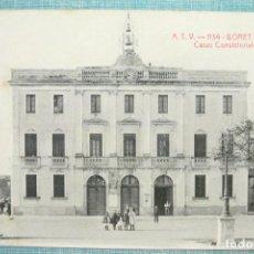 Postales: TARJETA POSTAL A.T.V. 1134 LLORET DE MAR, CASAS CONSISTORIALES ,ANGEL TOLDRÁ VIAZO. Lote 126600791