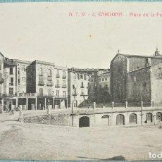Postales: TARJETA POSTAL ANTIGUA A.T.V. 4 CARDONA, PLAZA DE LA FERIA , SIN CIRCULAR. Lote 126601539