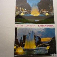 Postales: POSTAL FUENTE LUMINOSA TARRAGONA-ESCRITA CM. Lote 126742123